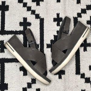 Eileen Fisher leather platform sandals size 7.5